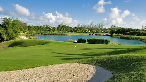 Sand trap on Golf course in barbados