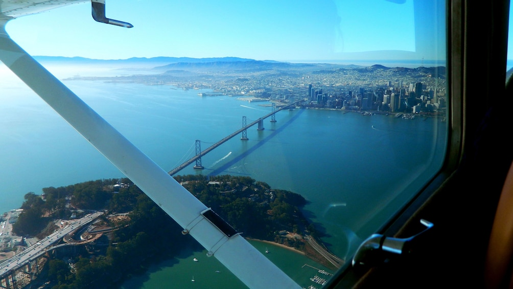 Show item 1 of 8. View from the plane of San Francisco