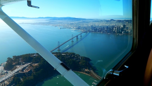View from the plane of San Francisco