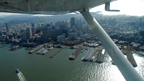 aerial view of harbor in san francisco