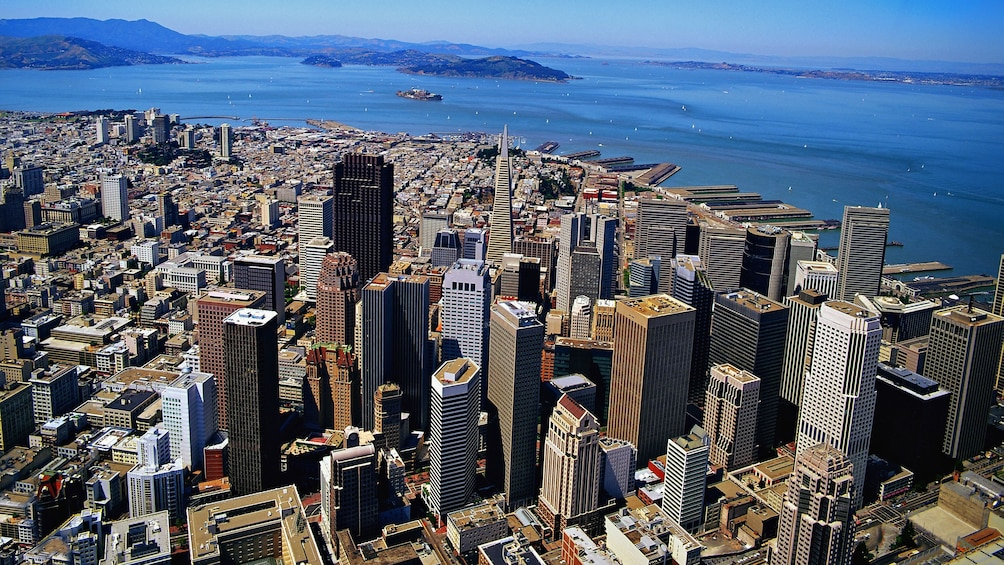 Show item 2 of 8. aerial view of city in san francisco