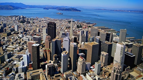 aerial view of city in san francisco