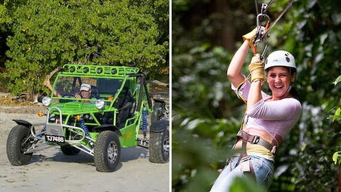 dune buggy and zipline activity combination in Saint Lucia