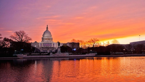sun set at the Capitol Building in DC