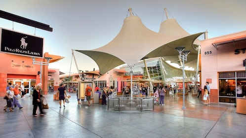 stretched canopy outside the outlet mall in Las Vegas