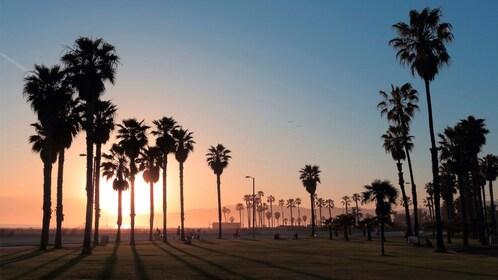 Sunset view of Santa Monica beach