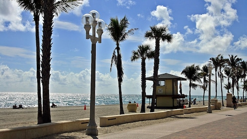 Panoramic view of the beach in Santa Monica