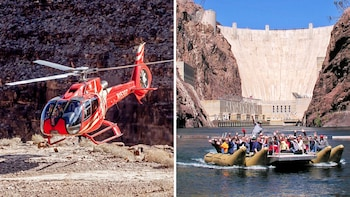 Famous Landmarks Flight & River Rafting Tour