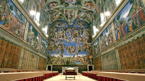 Beautiful hall in the Vatican museums in Rome