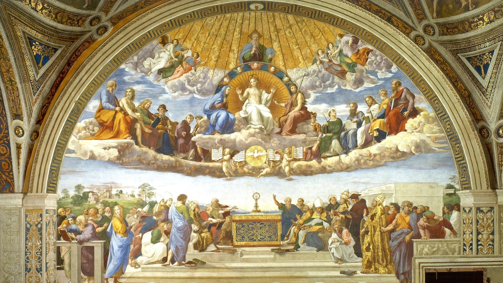 Ver elemento 5 de 10. Disputation of the Holy Sacrament Painting in Rome