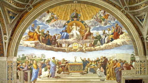Disputation of the Holy Sacrament Painting in Rome