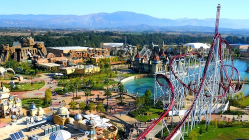 Aerial view of Rainbow MagicLand in Italy