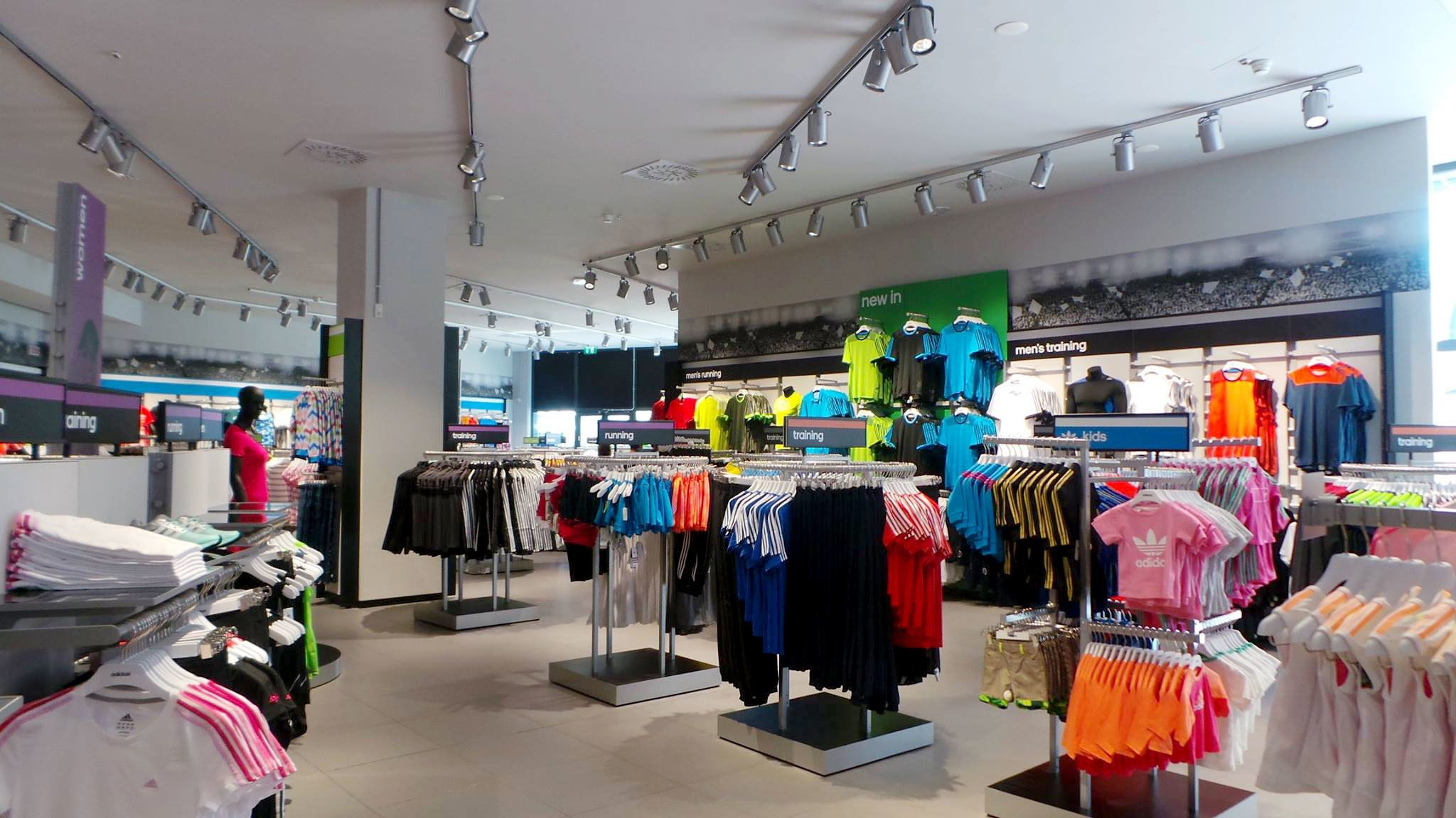 Inside a store at Shopping at Valmontone Outlet in Rome