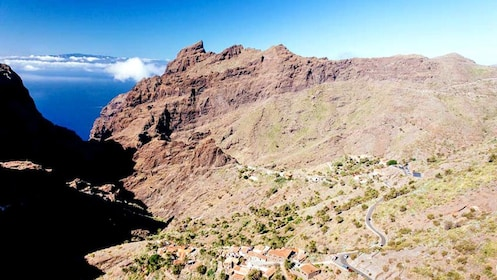 Small town next to a mountain in Teide National Park