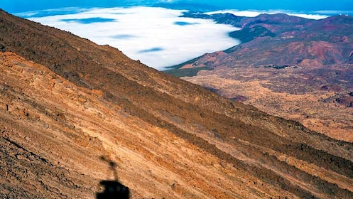Panoramic view from the top of a mountain at Teide National Park