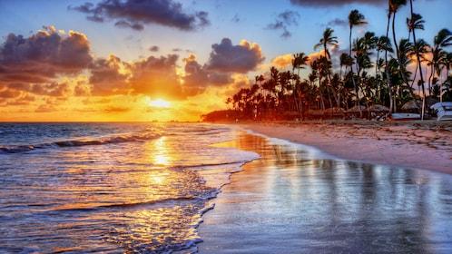 Sunset view of Tenerife