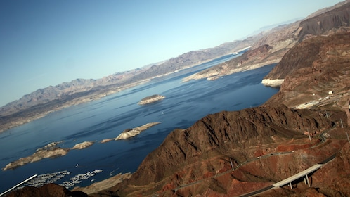 aerial view of river region in Nevada