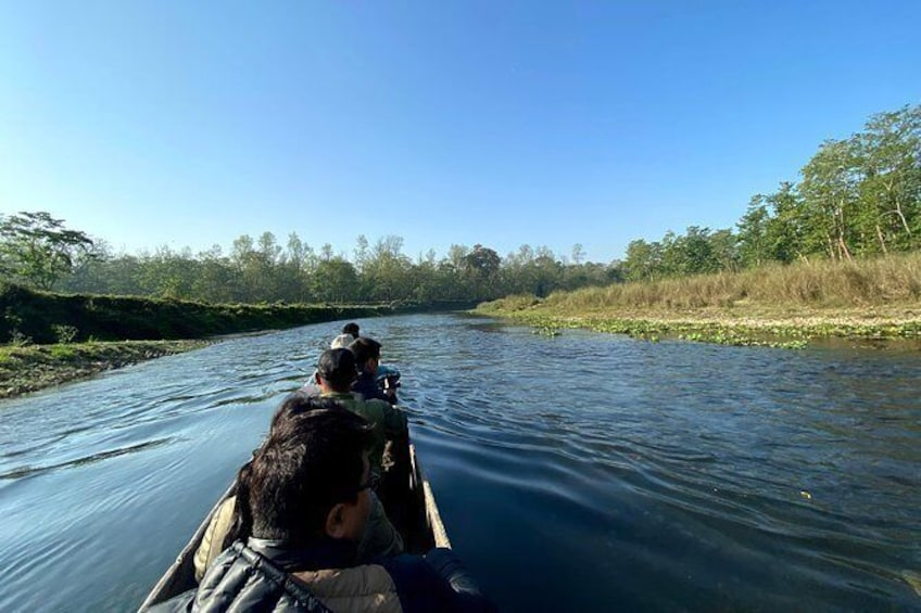 Show item 1 of 9. 45 Minutes Canoeing at Rapti River in Chitwan National Park