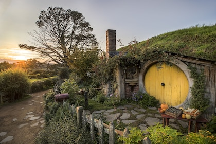 Full-Day Waitomo Caves & Hobbiton Movie Set Tour