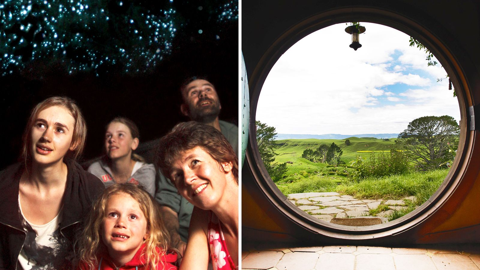 Full-Day Waitomo Caves & Hobbiton Movie Set Tour