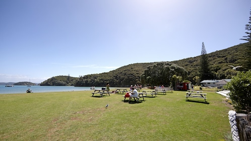 Picnic grounds of Bay of Island Hole in the Rock