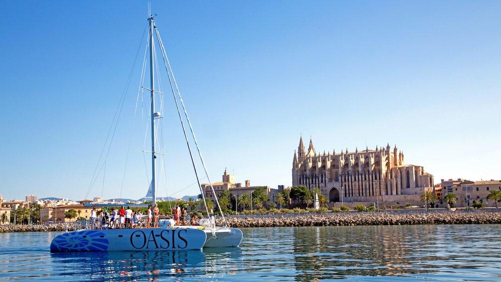Catamaran anchored in Mallorca