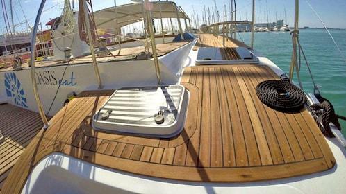 Deck of Catamaran