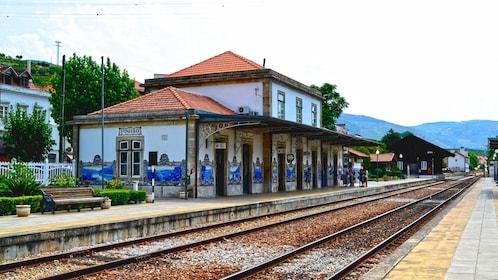 Railroad platform in Douro Valley