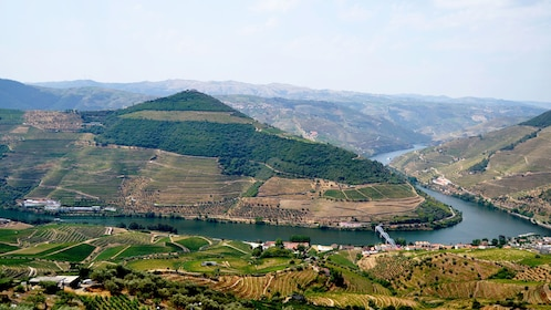 Hill tops and river of Douro Valley
