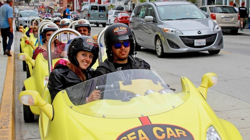 A sea car touring San Francisco
