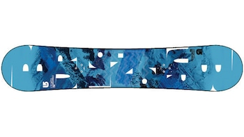 Show item 3 of 5. Snowboard with an imprinted mountain slope decoration