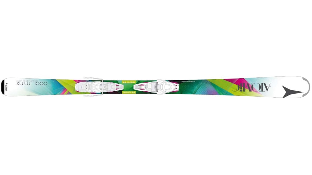 Show item 3 of 5. Skis of various designs and colors are available to rent