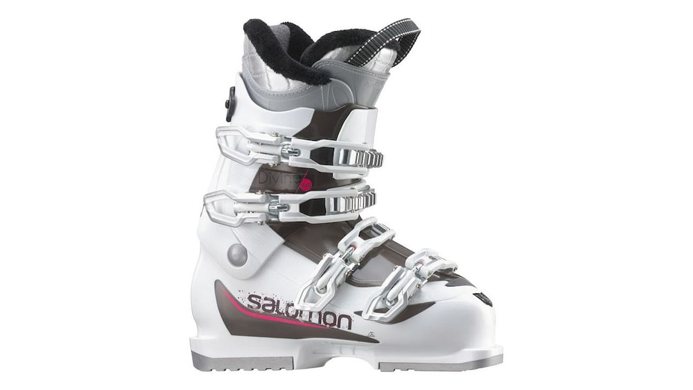 Show item 2 of 5. Ski boots for kids and adults are available to rent