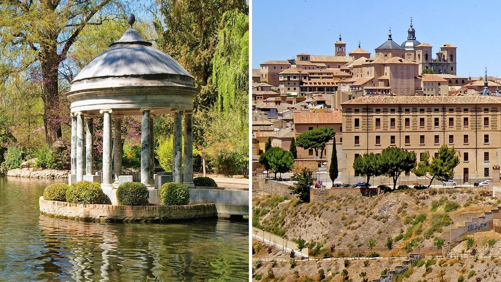 Apri foto 1 di 6. Combo image of Aranjuez and Toledo, Spain