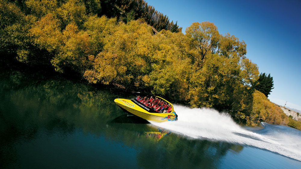 Traverse Shotover River on a fast jet boat ride