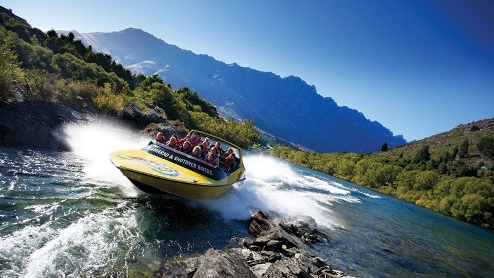 Epic jet boat ride down Shotover River in Queenstown