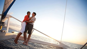 St. Lucia Lover's Rock Sunset Cruise with Open Bar