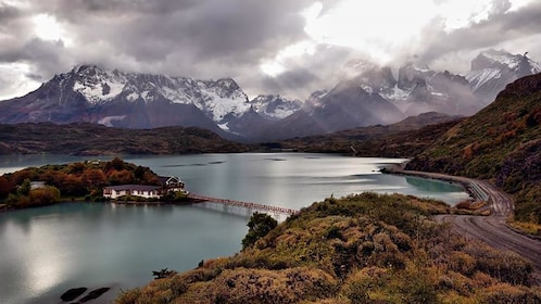 Torres del Paine National Park on an overcast day
