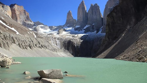 Base of the Torres del Paine Towers in Puerto Natales