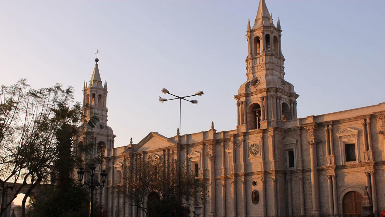 Colonial church in Maca and Yanque Peru