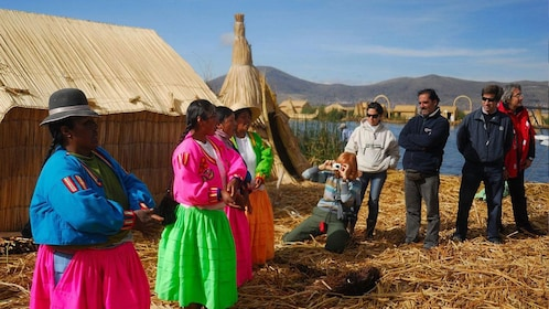 Villagers of the Uros Islands in Peru
