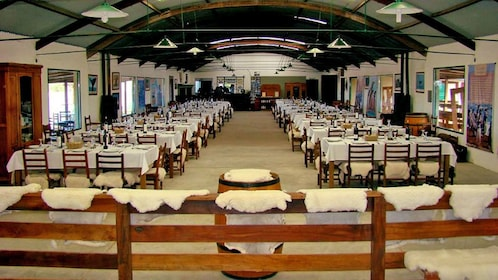inside a dining hall in Argentina