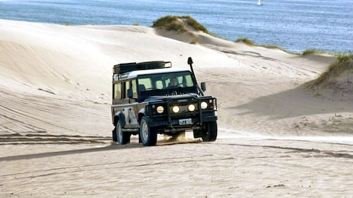 Jeep on the beach in Argentina