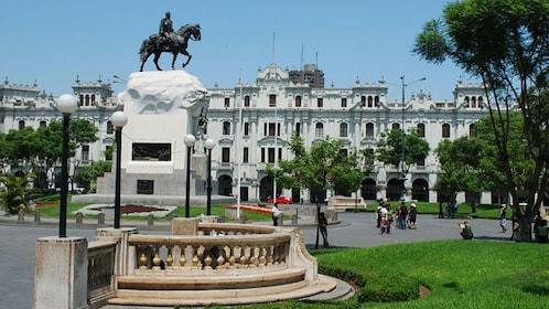 Statue of General Jose de San Martin in the historic center of Lima, Peru