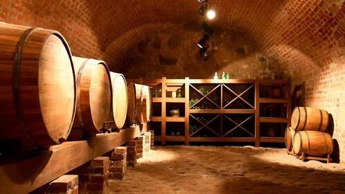 Hand crafted pisco wine cellar in Peru