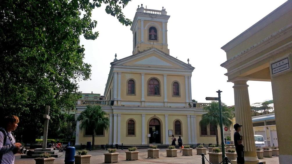 Show item 3 of 10. Yellow church in Cotai