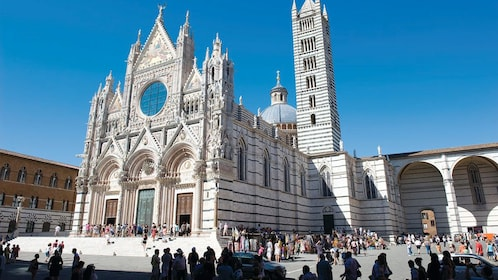 Guests viewing the Siena Cathedral in Siena, Italy