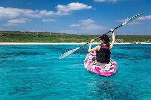 [Okinawa Miyako] SUP / Canoe + sea turtle Snorkeling !! (half-day course)