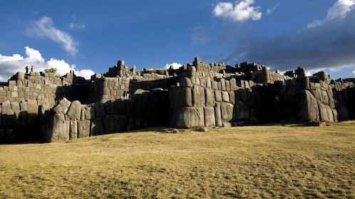 Ancient Incan ruins inside the Park of Sacsayhuaman