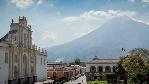 Beautiful city and mountain view of Guatemala